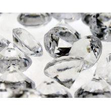 Кристаллы рассеивания стола Свадебное оформление Прозрачный акриловый алмаз