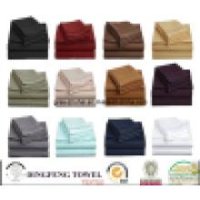 100% Algodão, Polycotton ou Microfiber Material Algodão Home Bedding Set, Verious Size Twin Rei Cheio Rei