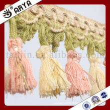 2016new design fresh color small tassel Fringe for Curtain decoration