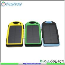 5000mAh Dual USB Port Solar Power Bank Charger External Battery Power Bank