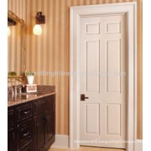 6 Panels modern interior solid wooden doors