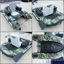 Perfektes Angeln aufblasbares Boot für 1 Person Nice Camo Belly Boat