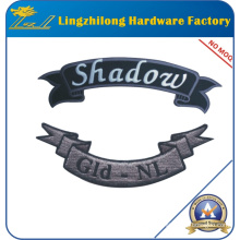 Free Custom Ribbon Shape Embroidery Letter Patch
