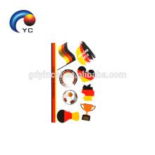 Tatuagem cosmética provisória da cara da bandeira das etiquetas do tatuagem da bandeira nacional do futebol NOVO