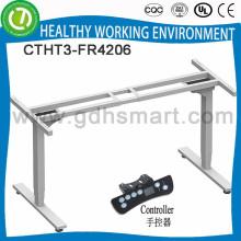 Cadre de table réglable en hauteur avec mécanisme de levage électrique et panneau contrôlable intelligent