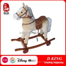 Nouveau cheval à bascule en bois avec roues pour enfants