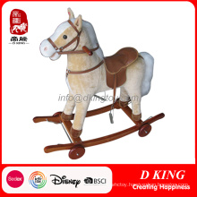 New Design Wooden Rocking Horse with Wheels for Kids