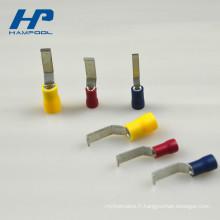 Borne escamotable électrique crêpée pré-isolée de PVC de PVC