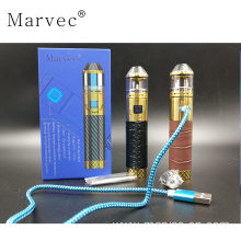 China for China Rba Atomizer Vape,Stable Wood Vape,Starter Kit Vape Supplier Latest Leather 90W E cigarettes vapor kit supply to Germany Factory