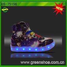 Bonne vente fille coupée LED chaussures claires LED
