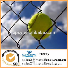PVC coated or galvanized golf course chain link Rhombus metal fence