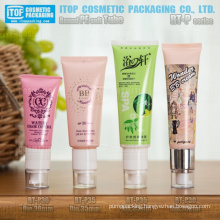 30mm and 35mm diameter unique round tube with airless pump popular and hot-selling airless pe bb cream tube