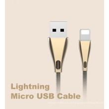 Cabo USB para cabo de carregamento de dados rápido