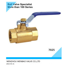 2-PC Female Threaded Brass Ball Valve with Hand Lever