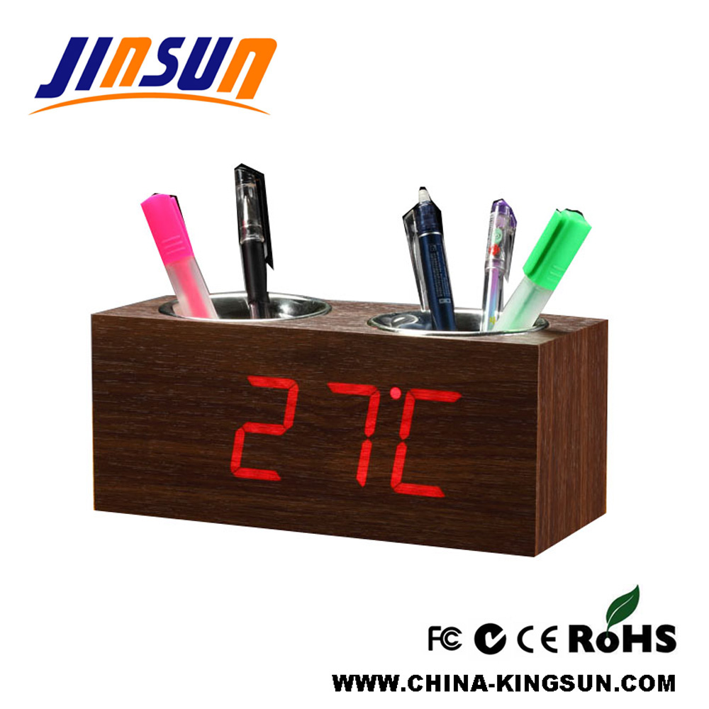 Double Penholder With Clock