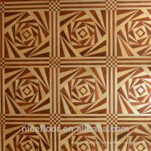 Layered solid wood parquet flooring N2028 PEAR FLOWER MAPLE PARQUET FLOOR OAK