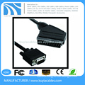 1.2 Meter Scart Male to VGA Male Cable M/M