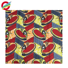 Чистый полиэстер африканский печатает воск платье ткань для продажи