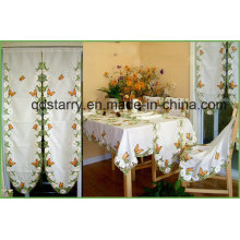 Butterfly Design Embroidery Cutwork Table Cloth St116