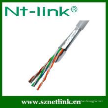 4 pares 24awg cable del LAN de cable de la red del cat5e del ftp