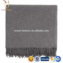 Warm Plain Kids Cashmere Wool Blended Travel Blanket