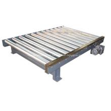 Sistema de manuseio de paletes de transportadores de rolos