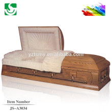beautiful polished satin interior cherry casket handle