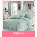 Venda al por mayor la tela textil del lecho del hotel de la raya del satén del algodón del 100% 100% para el lecho 250t, textil del hotel