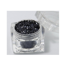 glitter powder in black color