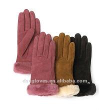 Las niñas de moda a su vez guantes invierno guantes