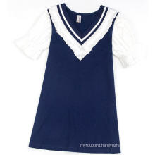 Navy Girl Baby Dress in Fashion Clothes with Children Garment
