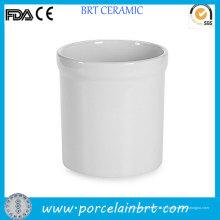 Porte-Ustensile en porcelaine blanche