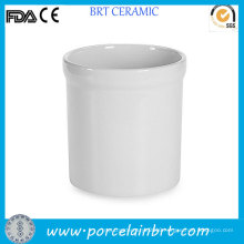 Wholesale Column White Porcelain Utensil Holder