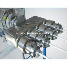 Linha de produção plástica do PVC quatro tubos