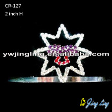 2''Star Custom Pageant Tiaras Crown para niña