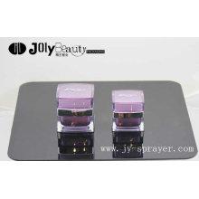 Frasco cosmético de acrílico quadrado luxuoso o mais atrasado 30ML