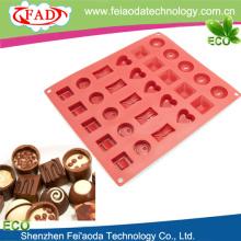 Гибкие 30-полость шоколад силиконовые формы