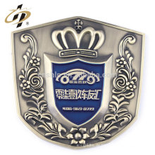 Kundenspezifisches Zinklegierungs-antikes silbernes Metallauto-Emblemausweis
