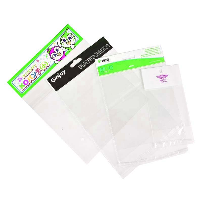 Color OPP Card Head Plastic Bags