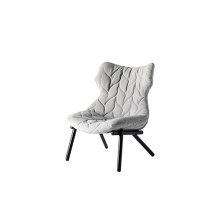 Foliage Single Lounge Armchair With Black Legs