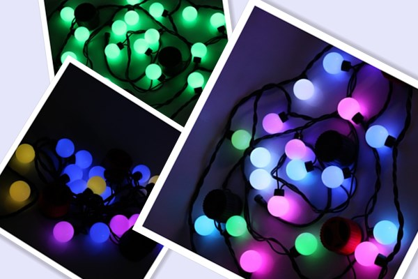 Smart string lights with speakers