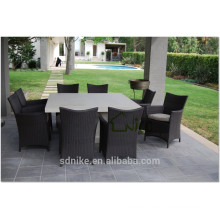 Dining room set specific use Rattan material dining table set