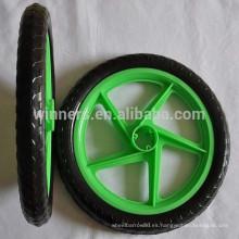 """Rueda de plástico sólido de 16 """"EVA para remolque de bicicleta"""