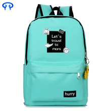 Fashionable notebook canvas female backpack