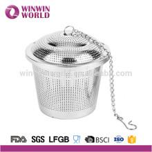 Colador de tamaño grande para tazas de acero inoxidable para una tetera de té caliente o una jarra de té helado