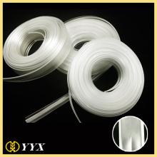 Fermeture à glissière pvc vinyle clair doux en gros pour les sacs
