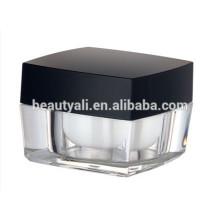 15ml 30ml50ml 100ml Cosmetic Packaging Square Acrylic Jar