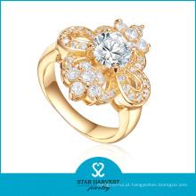 Charme Peridot 925 Sterling Silver Ring para senhoras (R-0400)