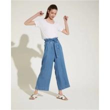 Hot sale ladies fashion blue denim trousers