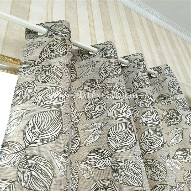 WZQ176 Taupe Color Typical Linen Touching Curtain